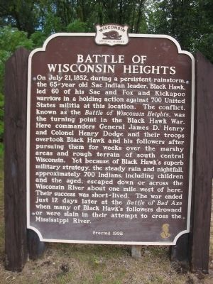 Battle of Wisconsin Heights Marker image. Click for full size.