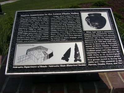 Native Americans in the Lower Platte Valley Marker image. Click for full size.