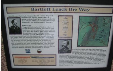 Bartlett Leads the Way Marker image. Click for full size.