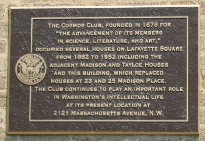 The Cosmos Club Marker image. Click for full size.