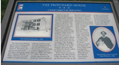 The Pritchard House Marker image. Click for full size.