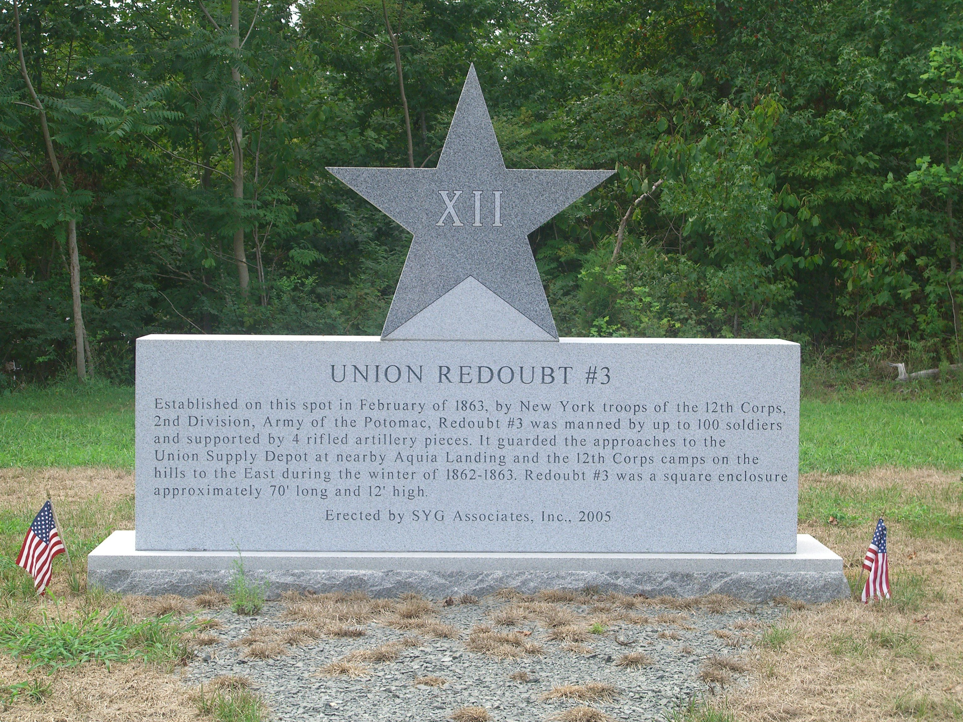 Union Redoubt # 3 Marker