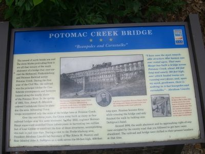 Potomac Creek Bridge Marker image. Click for full size.