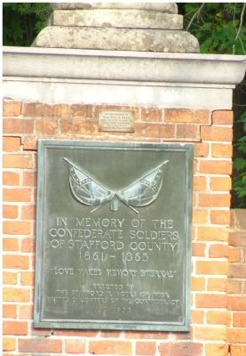 Plaque on Brickwork at Church Exit - Southside Photo, Click for full size