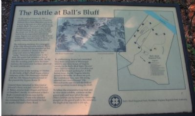 The Old Battle at Ball's Bluff Marker image. Click for full size.