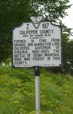 Fauquier County / Culpeper County Marker image. Click for full size.