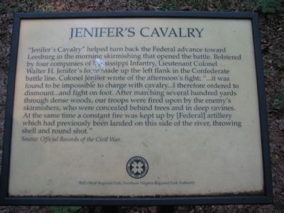 The Old Jenifer's Cavalry Marker image. Click for full size.