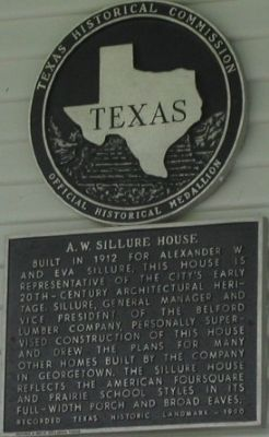 A. W. Sillure House Marker image. Click for full size.