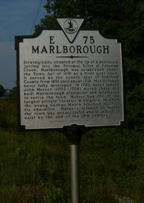 Marlborough Marker Photo, Click for full size