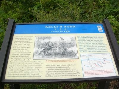 Kelly's Ford Marker Photo, Click for full size