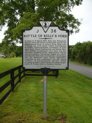Battle of Kelly's Ford Marker Photo, Click for full size