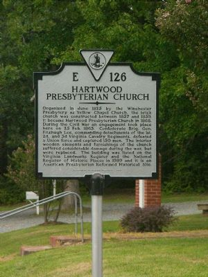 Hartwood Presbyterian Church Marker image. Click for full size.