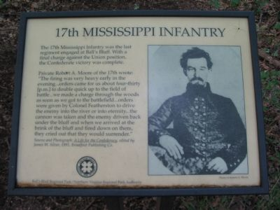 The Old 17th Mississippi Infantry Marker image. Click for full size.