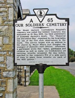 Marker, Our Soldiers' Cemetery image. Click for full size.