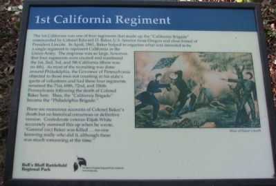 1st California Regiment Marker image. Click for full size.