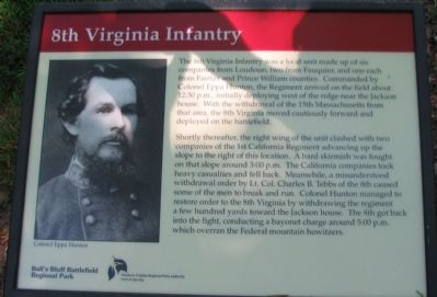 8th Virginia Infantry Marker image. Click for full size.