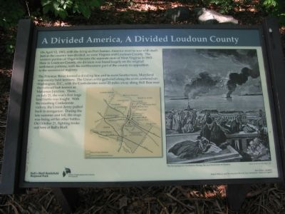 A Divided America, A Divided Loudoun County Marker image. Click for full size.