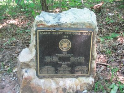 Commemorative Stone near the Marker image. Click for full size.