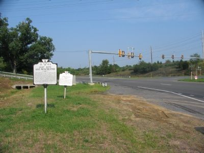Two Markers at the Intersection of Highway 7 and Route 656 image. Click for full size.
