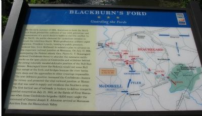 Blackburn's Ford Marker Photo, Click for full size