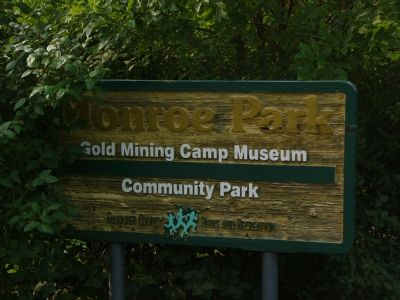 Sign at entrance to Monroe Park image. Click for full size.