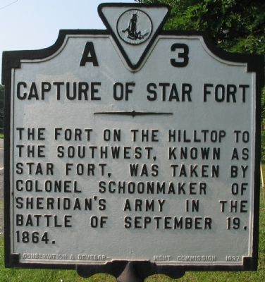 Capture of Star Fort Marker image. Click for full size.