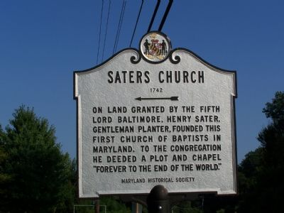 Saters Church 1742 Marker image. Click for full size.