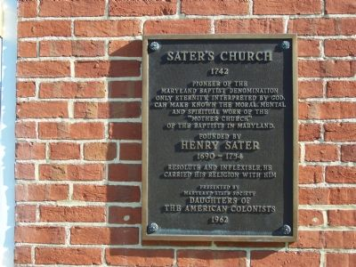 Sater's Church Marker image. Click for full size.
