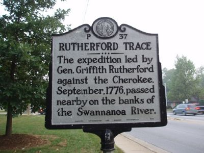 Rutherford Trace Marker - Facing North image. Click for full size.