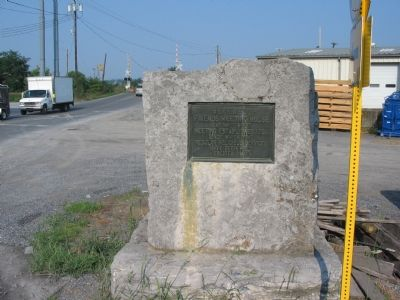 Stone Marker at the Crossroads of the Martinsburg Pike and Hopewell Road Photo, Click for full size
