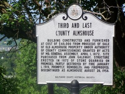 Third and Last County Almshouse Marker image. Click for full size.