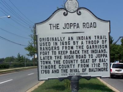 The Joppa Road Marker Photo, Click for full size