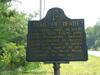 Trail of Death Marker Photo, Click for full size