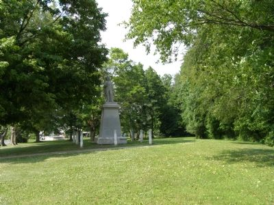 Monument at Chief Menominee Park image. Click for full size.