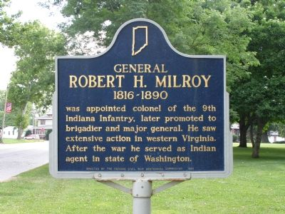 General Robert H. Milroy 1816-1890 Marker image. Click for full size.