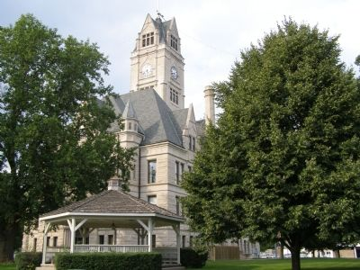 Jasper County Courthouse, Rensselaer image. Click for full size.