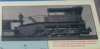 One of the locomotives captured and transported to Strasburg. image. Click for full size.