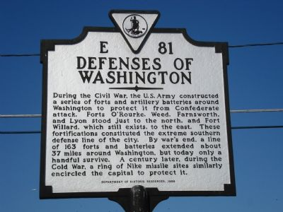 Defenses of Washington Marker image. Click for full size.