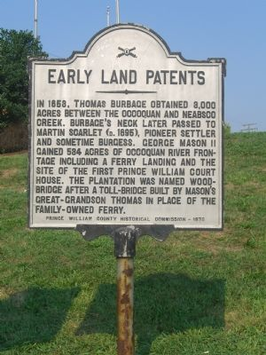 Early Land Patents Marker Photo, Click for full size