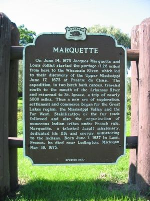 Marquette Marker image. Click for full size.