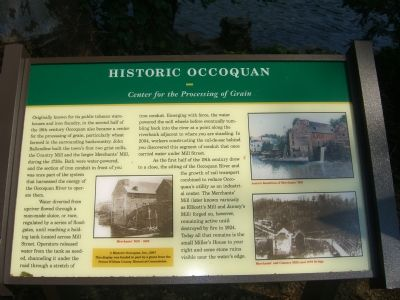 Historic Occoquan - <i>Center for the Processing of Grain</i> Marker image. Click for full size.