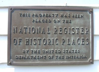 National Register of Historice Places Plaque image. Click for full size.