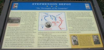 Stephenson Depot Marker Photo, Click for full size