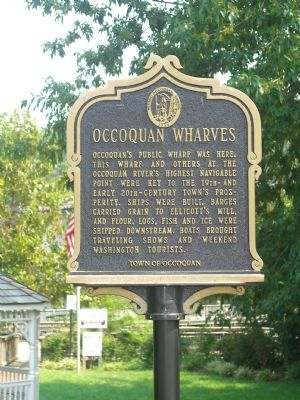 Occoquan Wharves Marker (Obverse) image. Click for full size.