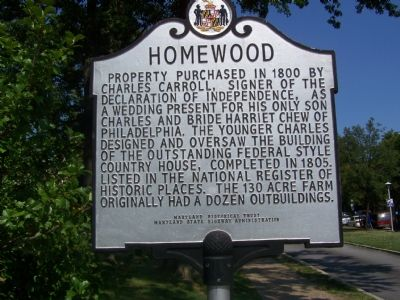 Homewood Marker image. Click for full size.