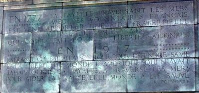 Opposite Side of Monument written in French image. Click for full size.