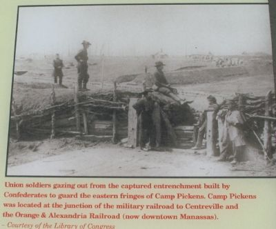 Close Up View of the Photograph of the Fortifications Photo, Click for full size