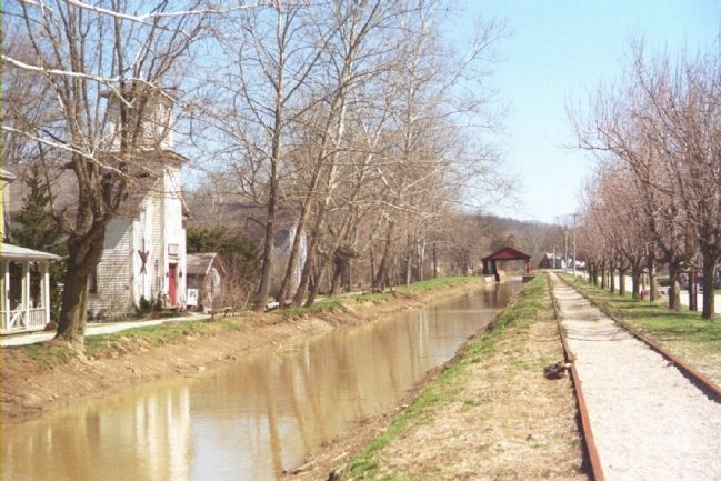Metamora Christian Church Faces the Whitewater Canal image. Click for full size.