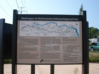 Washington and Old Dominion Trail Marker Photo, Click for full size