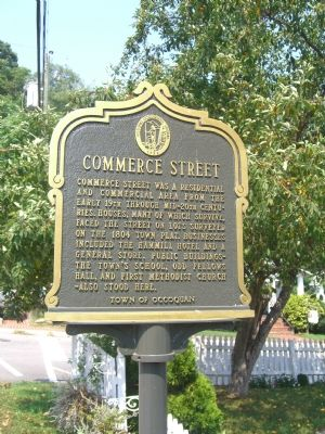 Commerce Street Marker (Obverse) image. Click for full size.